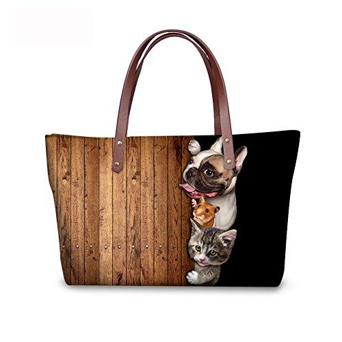FancyPrint Foldable Handle Satchel Fashion Top Purse Bags Women C8wc0251al Wallets Handbags 5r5qZ