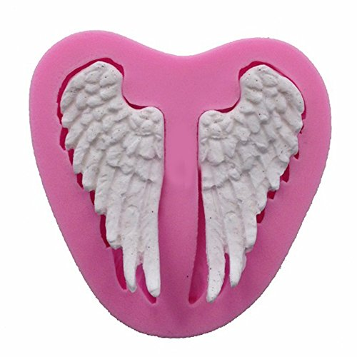 Dolloress 7cmx7cmx1.1 cm Silicone 3D The Wings Patterns Cake Chocolate Sugar Paste Mold Mould Model Decor ()