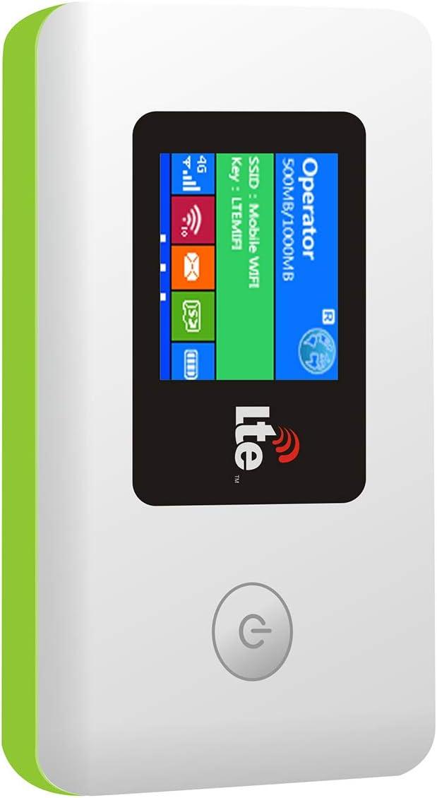 KuWFi 4G LTE Travel Router 100Mbps Mobile WiFi Hotspot Pocket Portable Wireless Unlock Mini Wi-Fi Modem with SIM Card Slot Not Including SIM Card Support FDD B2/B4/B5/B7