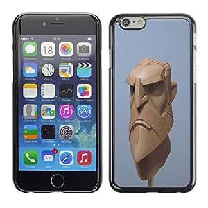 TopCaseStore / la caja del caucho duro de la cubierta de protección de la piel - Blue Beard Viking Cgi Computer - Apple iPhone 6 Plus 5.5