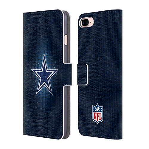 Official NFL LED 2017/18 Dallas Cowboys Logo Leather Book Wallet Case Cover for Apple iPhone 7 Plus / 8 (Leather Dallas Cowboys Football)