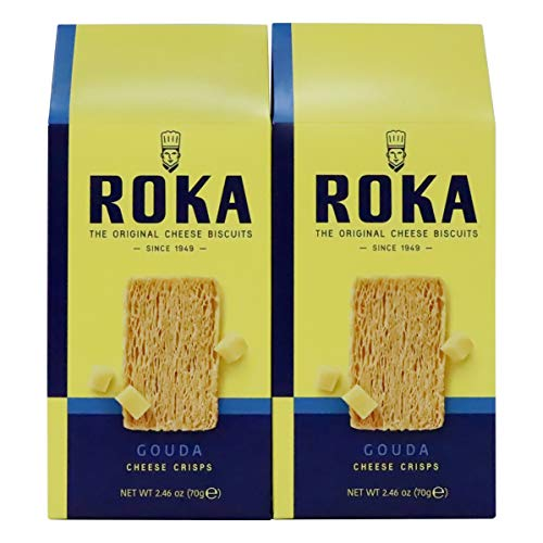 Roka Original Cheese Biscuits Super Cheesy Gouda Cheese Crisps 2.46 Ounce 2 Pack (Best Cheese Biscuits)