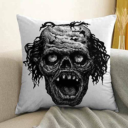 Halloween Pillowcase Hug Pillowcase Cushion Pillow Zombie Head