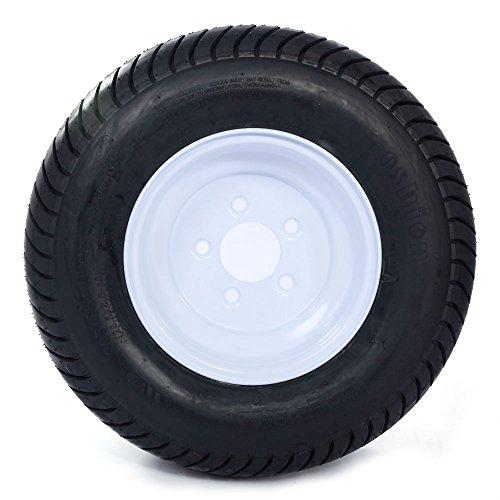 2 Pcs 20.5x8.0-10 LRC Bias Trailer Tires 6PR P825 5 lugs on 4.5'' Center Spare Rubber Tire Wheel Replacement by Motorhot (Image #2)