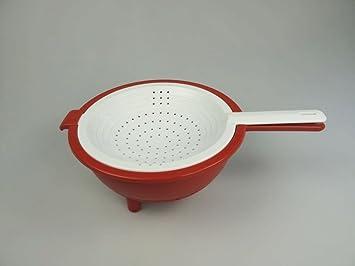 Tupperware Utensilios de cocina Colador Saladin-Escurridor Multi de Colador  Rojo de color blanco 009d1dc4fa06