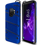 Samsung Galaxy S9 Case Military Grade 15ft. Drop Tested Protective Case with Kickstand,Shockproof,Dual Layer Heavy Duty, Compatible with Samsung Galaxy S9 - Blue