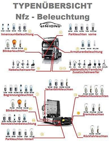 /X/énon blanc/ /Aspect moderne et Incroyable Intensive /Éclairage LED navette pour camion avec r/ésista /Tr/ès claire/ Lot de 5/x 24/V//BA9S T4/W avec 9/x Power SMD/