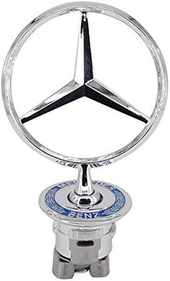 NEW FOR Mercedes Benz Hood Blue Flat Laurel Wreath Badge Emblem Paste