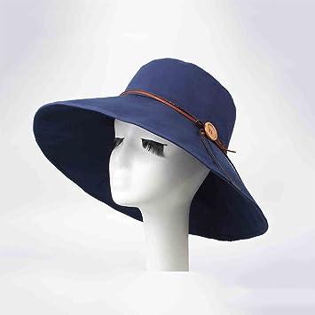 HONEY Women s Fisherman Hat Bucket Hats Jazz Hat Bowler Hat Summer European  Style Navy Blue  Amazon.co.uk  Garden   Outdoors 663938eea2