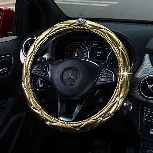 sino-banyan-steering-wheel-coverfluorescence-with-crystal-crownanti-slip-covergold