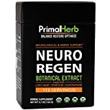 Neuro Regen Botanical Extract | by Primal Herb | Neurological & Nerve Support | Lion's Mane Mushroom, Epimedium, Sulforaphane Extract Powder - 113 Servings - Includes Spoon
