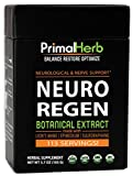 Neuro Regen Botanical Extract | by Primal Herb | Neurological & Nerve Support | Lion's Mane Mushroom, Epimedium, Sulforaphane Extract Powder – 113 Servings – Includes Spoon Review