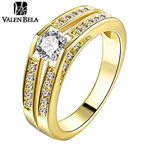 Engagement Ring Zircon Anelli Donna Vintage Ring JZ5210: Jewelry