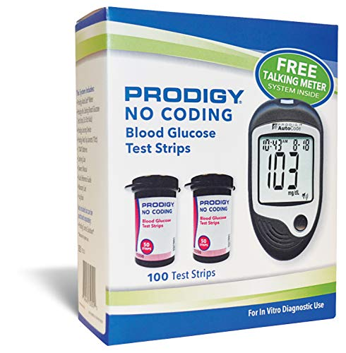 Prodigy Glucose Monitor Kit - Includes Prodigy Meter, 100ct test strips, 10ct Lancets, Lancing...