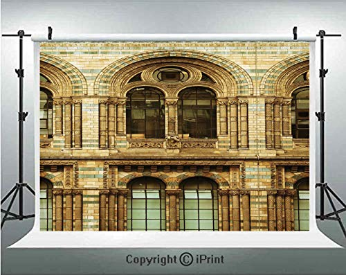 Urban Photography Backdrops Historical Architecture European City Building in London British Culture Art Photo Print,Birthday Party Background Customized Microfiber Photo Studio Props,7x5ft,Sepia