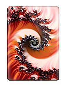 New YrzqjzP2544GCuOZ Red Fractal Skin Case Cover Shatterproof Case For Ipad Air