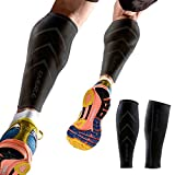 Emerge Calf Compression Sleeve by For Men & Women - Leg & Shin Splint Compression Sleeves for Runners, Shin Splints & Blood Circulation