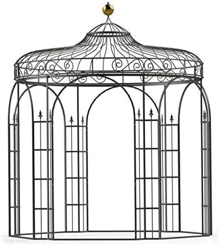 Mpire - Cenador de jardín (metal, hierro, 350 cm de diámetro ...