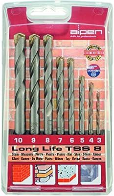 ALPEN 9084030 Estuche Brocas Widia Long Life 8 Piezas: Amazon.es: Bricolaje y herramientas