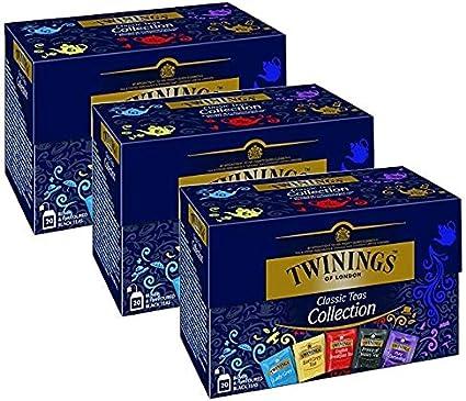 Twinings Classic Black Tea Collection 3 x 20 bolsitas de té: Amazon.es: Alimentación y bebidas