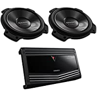 (2) Kenwood eXcelon KFC-XW120 12 Inch Subwoofer With (1) Kenwood KAC-9106D 2000 Watt Monoblock Class D Car Audio Power Amplifier Amp
