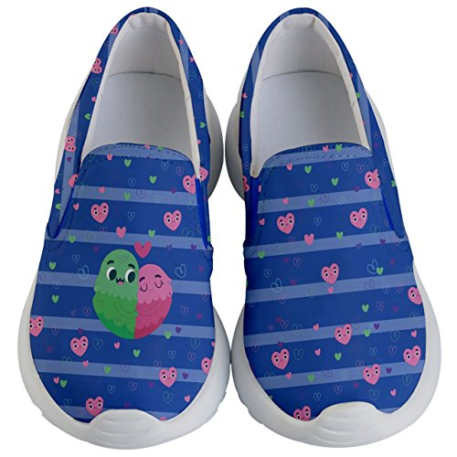 PattyCandy Kids Slip On Cute Couple & Hearts Lightweight Casual Shoes-US 10.5C by PattyCandy