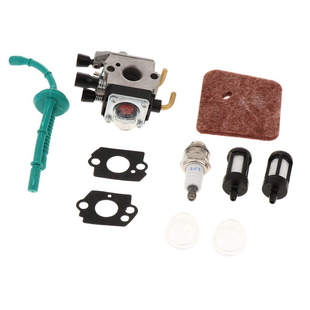 SM SunniMix Vergaser Z/ündkerze Kraftstofffilter Set F/ür STIHL FS38 FS45 FS45C FS45L FS46 FS55C FS55C FS55R FS55RC FS55T Rasentrimmer Vergaser Ersatz