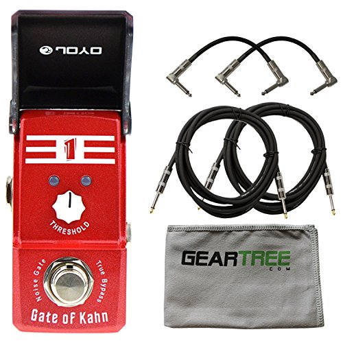Joyo JF 324 Gate of Kahn Noise Gate Ironman Mini Pedal w/ Cloth and 4 Cables