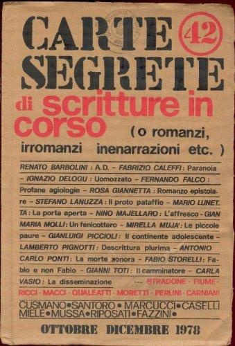 Carte Segrete. Ottobre - Dicembre 1978