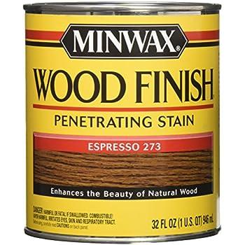 Minwax 700504444 Wood Finish Interior Penetrating Stain, Quart ...