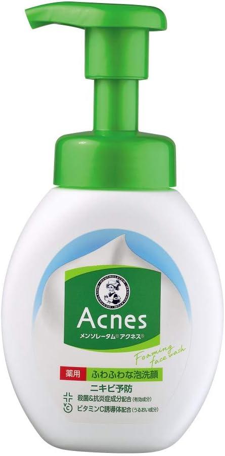ニキビ肌におすすめの洗顔料『メンソレータム アクネス ニキビ予防薬用ふわふわ泡洗顔(アクネス)』