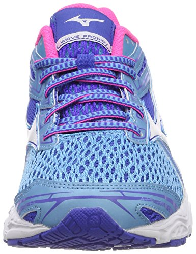 White White Mizuno WOS Wave Women's Multicolor Peacoat Pinkglo Aquarius Prodigy Shoes Pinkglo Multicolore 02 Running 8w8T7n