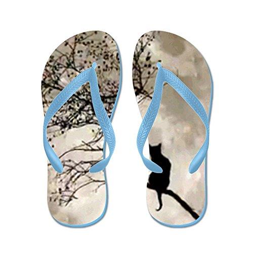 Cafepress Catmoon7100 - Flip Flops, Roliga Rem Sandaler, Strand Sandaler Caribbean Blue