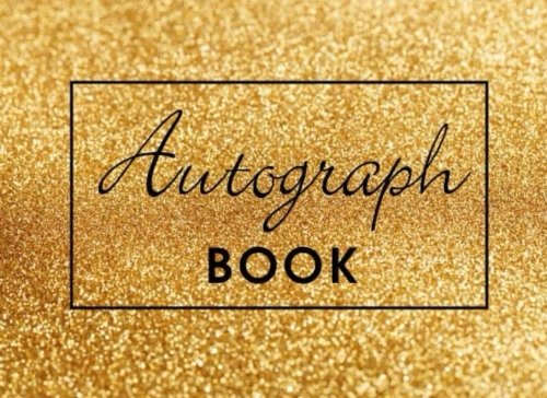 (Autograph Book: Gold Sparkles, Memory Book, Signature Celebrity Memorabilia Album Gift, Blank Unlined Keepsake Scrapbook Favorite Baseball, ... Cartoon Characters, 8.25