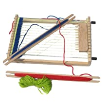 Craft Gifts: Childs Weaving / Loom Set. Great Starter Kit and Alternative to Knitting. Stocking Fillers for Girls