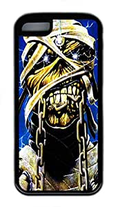 iPhone 5C Case and Cover Iron Maiden TPU Silicone Rubber Case Cover for iPhone 5C Black