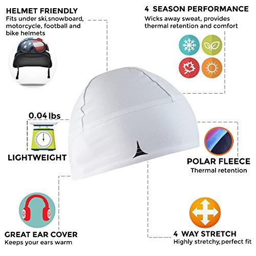 577cf44ba2b French Fitness Revolution Skull Cap Helmet Liner Running Beanie - Ultimate  Thermal Retention and