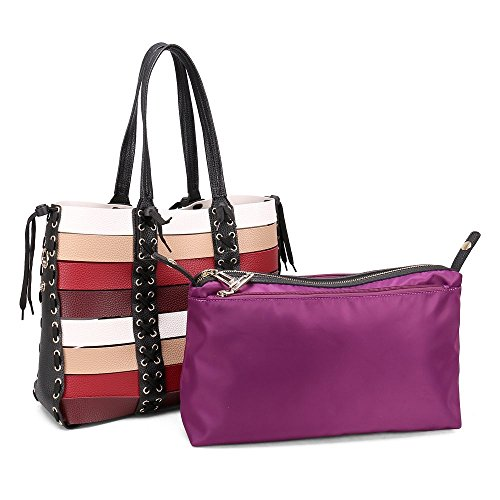 Ladies Handbags Bags Womens Red Satchel Stylisher Shoulder Mix Purses Bag Tote T1qx5pqw