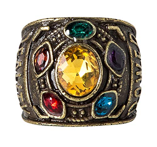 Thanos Rings,Thanos Cosplay,Thanos Gold Ring,Avengers Infinity War Thanos Rings Size 7]()