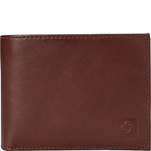 (Samsonite 1910 Two Compartment Leather Wallet (Chestnut))