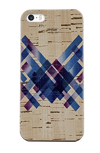Cork Wood iPhone SE | 5 | 5s Cases (Criss Cross - Planet Cork