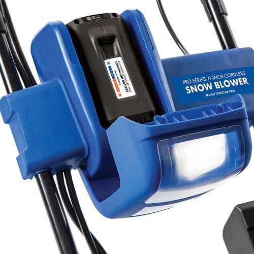 21-Inch 40 Volt Brushless 5 Ah Battery Snow Joe iON21SB-PRO Cordless Single Stage Snow Blower