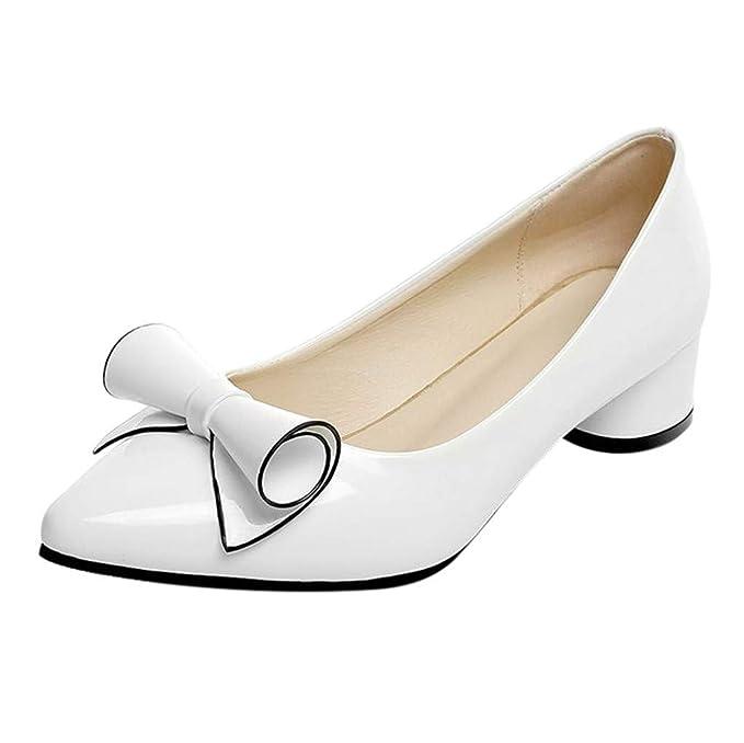 Darringls_Zapatos para Mujer,Zapatillas Puntiagudo Botines Color sólido Tacon Medio Sandalias Talón Grueso: Amazon.es: Ropa y accesorios