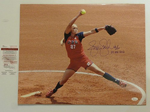 JENNIE FINCH autographed signed 16x20 Photo 2004 Olympics...