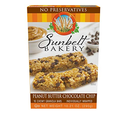 Sunbelt Bakery Peanut Butter Chocolate Chip Chewy Granola Bars, 30 Bars