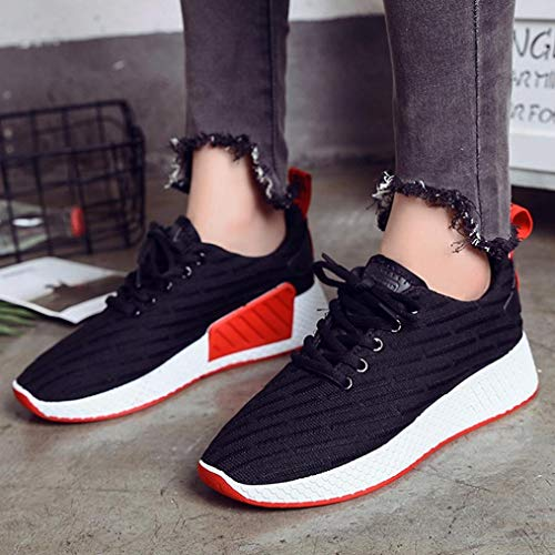 Running Mesh Fashion Student Walking Shoes Breathable Teen Sport FALAIDUO Casual Sneakers Black Women Outdoor Shoes Shoes Light YBTcRT4