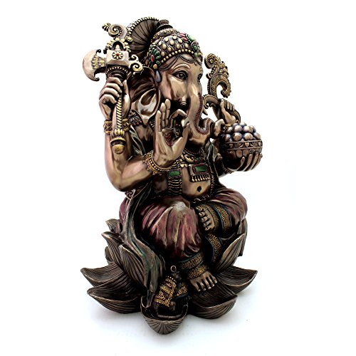Top Collection 25'' Large Ganesha Statue in Real Bronze Powder Cast - Hindu Sri Ganesh Elephant Lord of Success Museum Sculpture by Top Collection (Image #3)