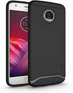 TUDIA Moto Z2 Play Case, Slim-Fit Heavy Duty [Merge] Extreme Protection/Rugged but Slim Dual Layer Case for Motorola Moto Z2 Play (Matte Black)