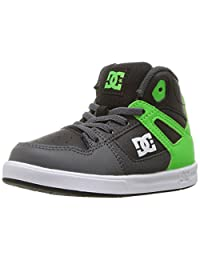 DC Children (youths) Rebound Ul Green Grey White Shoes Size