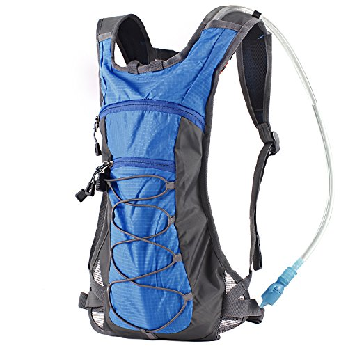 Hydration Pack Backpack with 70 oz 2L Water Bladder for Running, Hiking, Cycling, Climbing, Camping, Biking (Classic Handheld Water Purifier)